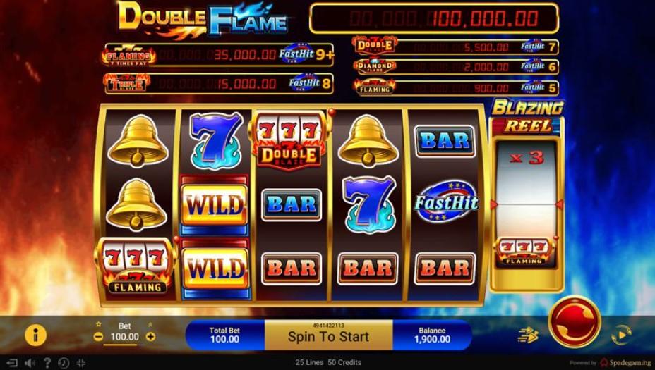 เล่นเกมสล็อตมือถือ Double Flame วงล้อเสริม เพิ่มยอดจ่าย
