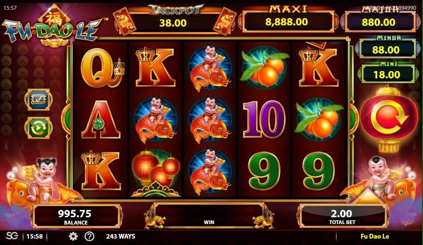 สล็อตออนไลน์มือถือเกมส์ Fu Dao Le สีสันสดใส