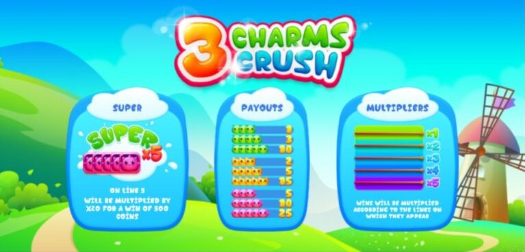 You are currently viewing เกมสล็อตออนไลน์ 3 Charms Crush น่ารัก ไม่ซ้ำใคร